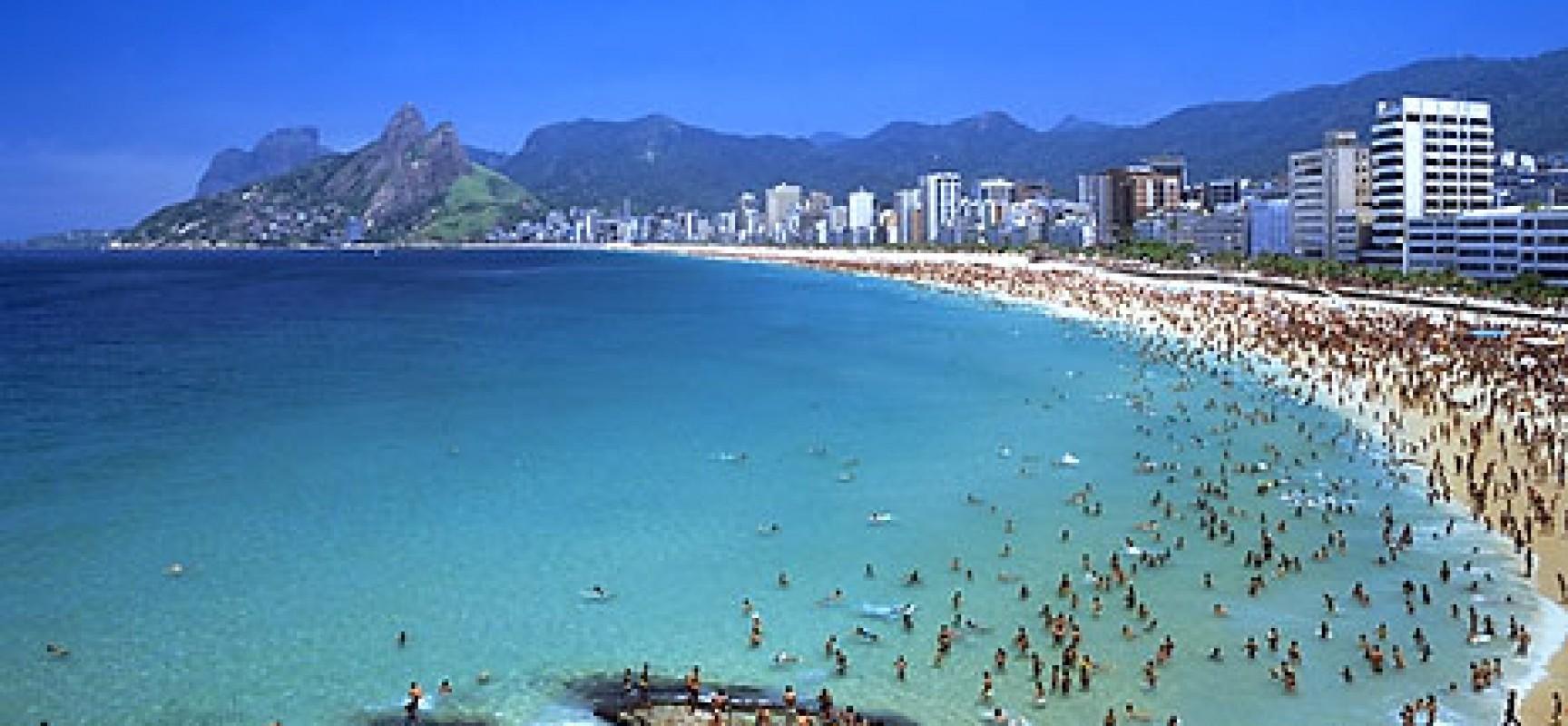 Ipanema Beach Beautiful Place In Rio De Janeiro Brazil