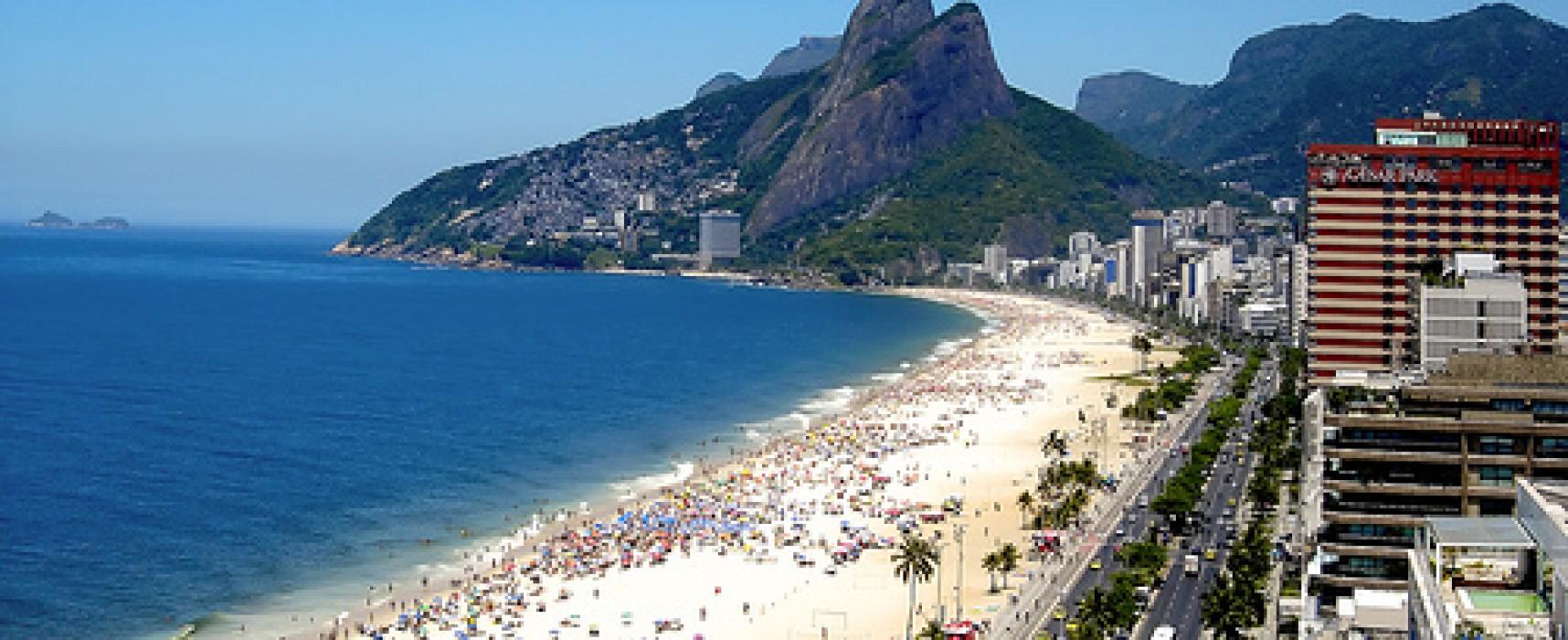 Ipanema Beach Beautiful Place In Rio de Janeiro, Brazil