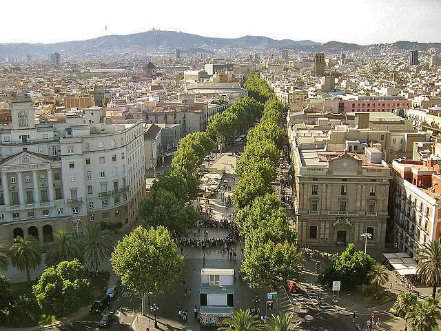 La Rambla A Street In Central, Barcelona