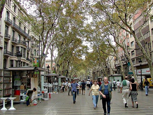 La Rambla A Street In Central, Barcelona  Travel Featured