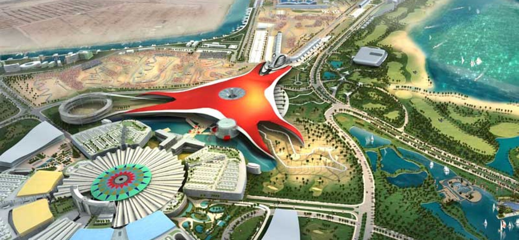 Ferrari World Map.Ferrari World The Biggest Indoor Theme Park Travel Featured