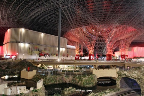 Ferrari World at night