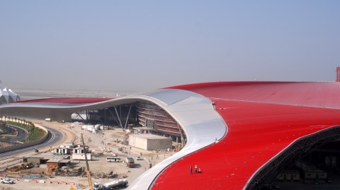 Ferrari World construction