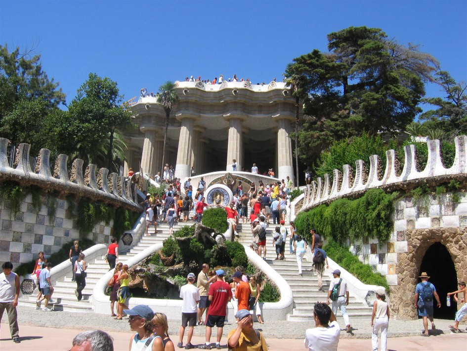 Park guell a garden complex barcelona spain travel featured - Garden center barcelona ...