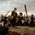 Plymouth Rock Traditional Arrival Of William Bradford