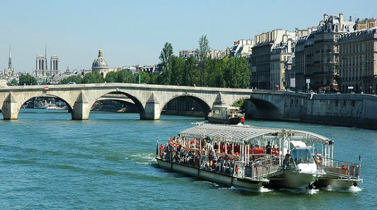 Seine A Famous River In Paris Basin Travel Featured