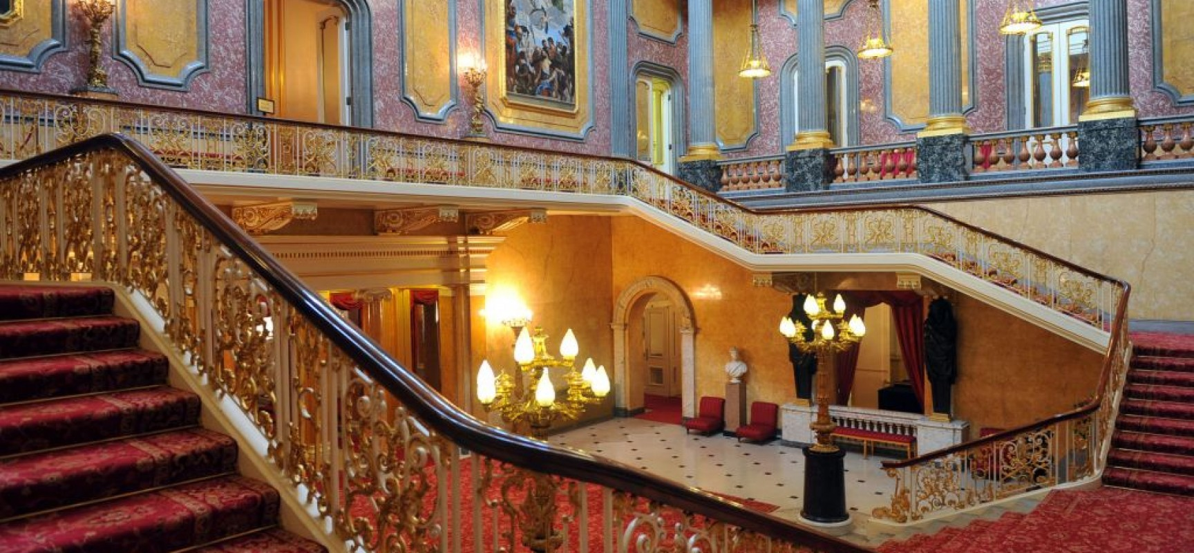 View on the interior at Lancaster House