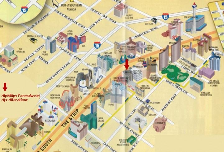 Las Vegas map