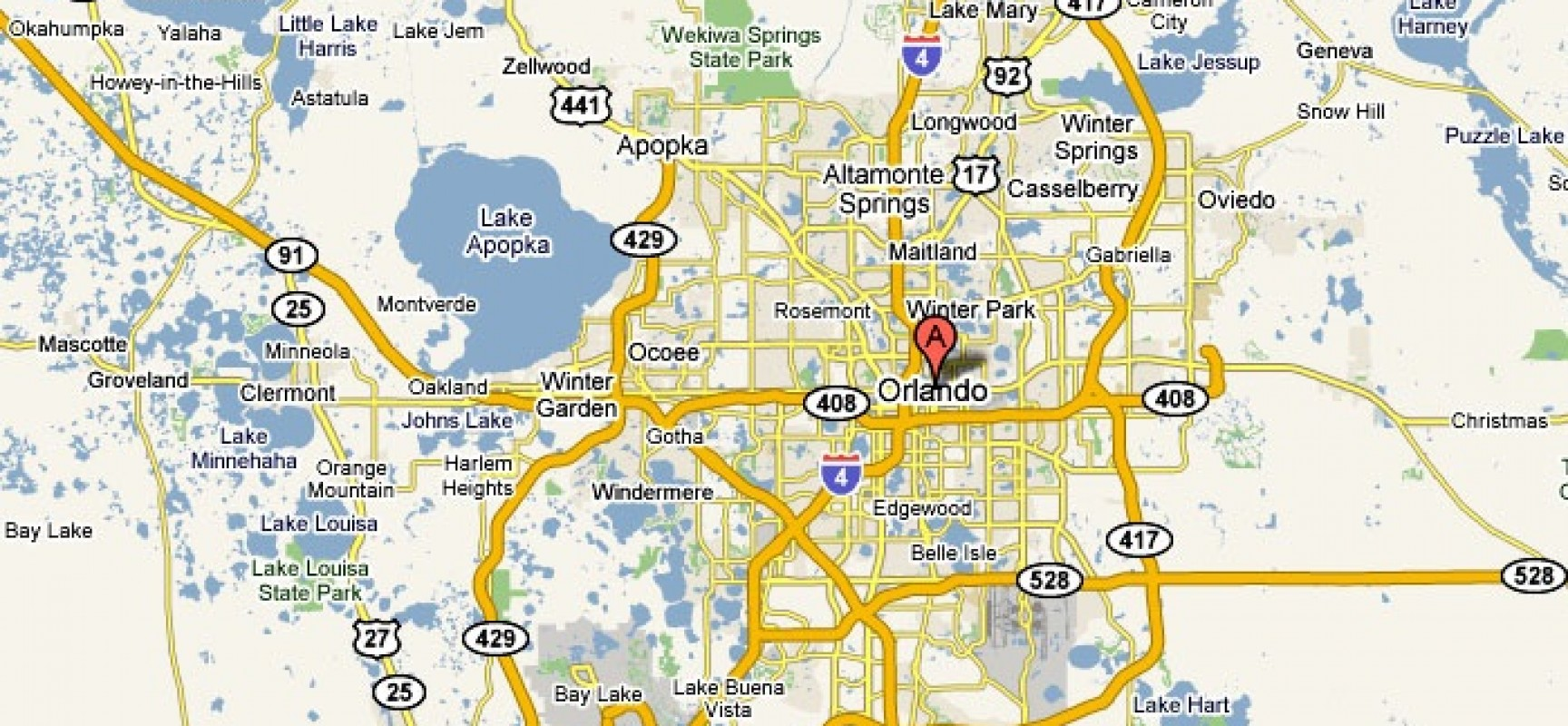 Orlando Florida USA – Orlando Florida Tourist Attractions Map