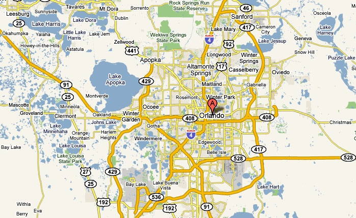 Orlando Florida road map