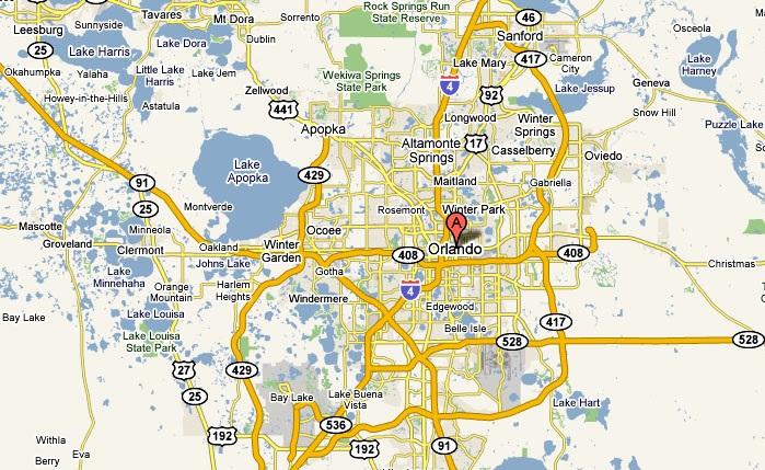 Orlando Florida road map