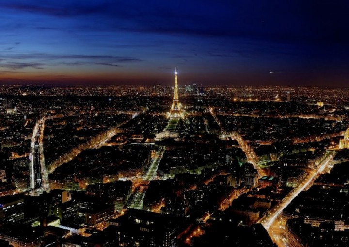Paris City of Love night