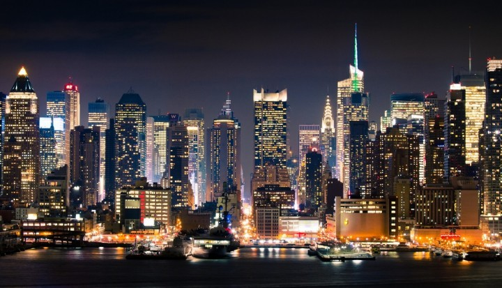 New York,Manhattan Night Lights