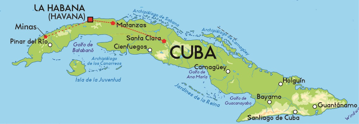Havana Capital Of Cuba Travel Featured - Map-of-cuba-and-us